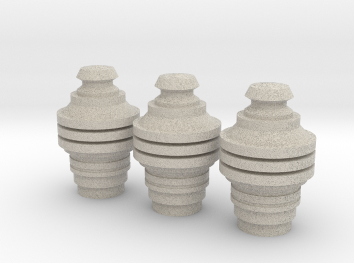 X-Wing Pilot Data Cylinders Heads 3d printed
