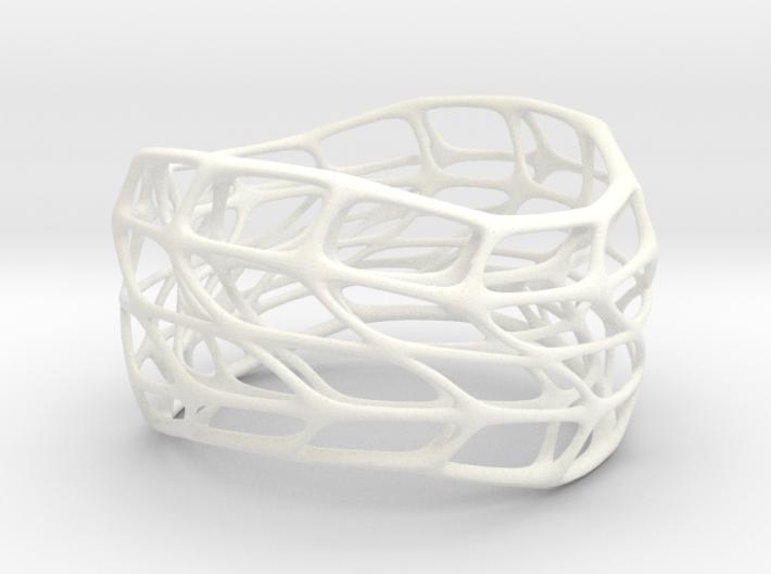 Hollow Panel Bracelet Silver (sz S/M) 3d printed