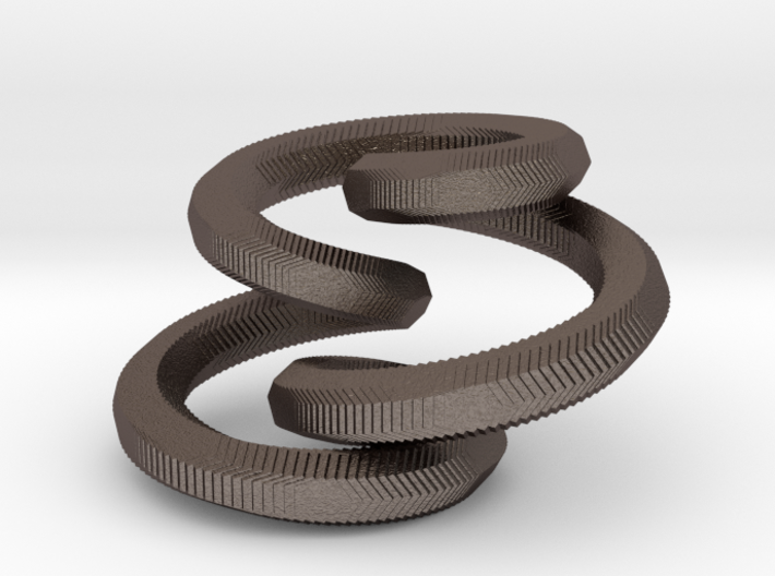 Looping Pendant 3d printed
