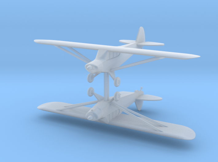 Piper PA18 - set of 2 - Zscale 3d printed