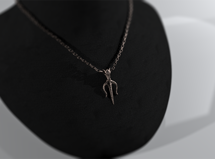 Poseidons Trident Necklace 3d printed