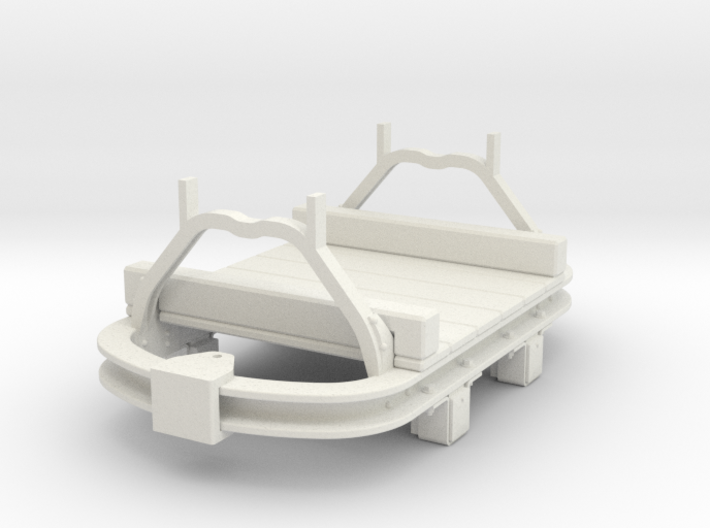 1:35 WDLR trolley flat converted from Hudson skip 3d printed