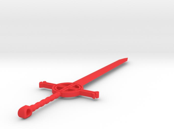Finn's Demon Blood Sword Keychain 3d printed Rendering