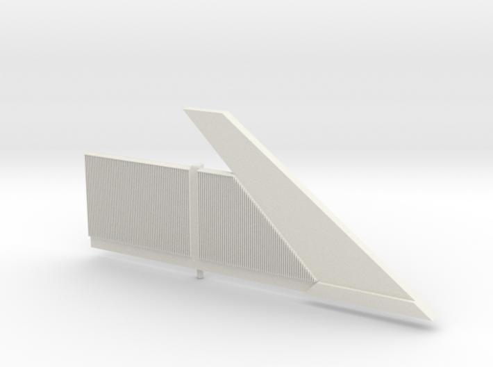 Beton-Schallschutzwand Mit Anfangselement Rechts-V 3d printed