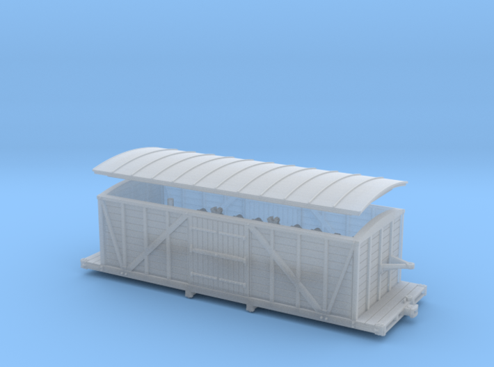 R33 N scale St. Petersburg Moscow boxcar 1847 3d printed