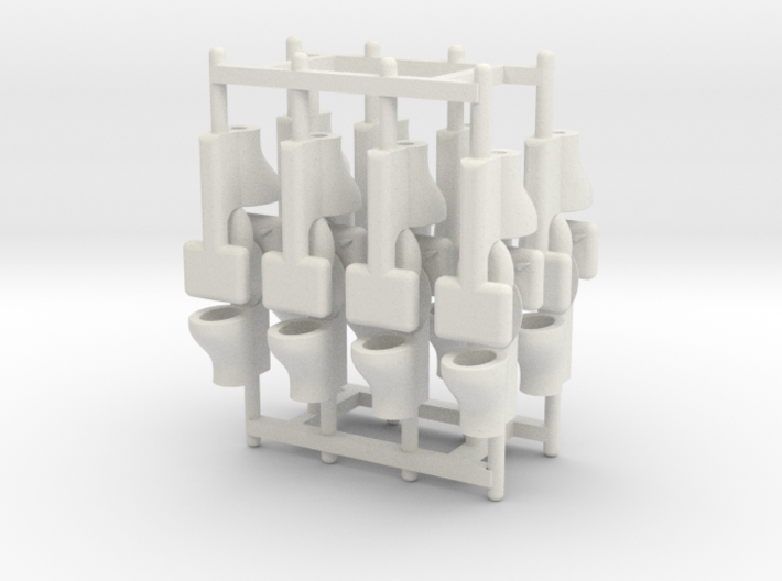 HO Scale (1:87) Commode, 16 pieces 3d printed