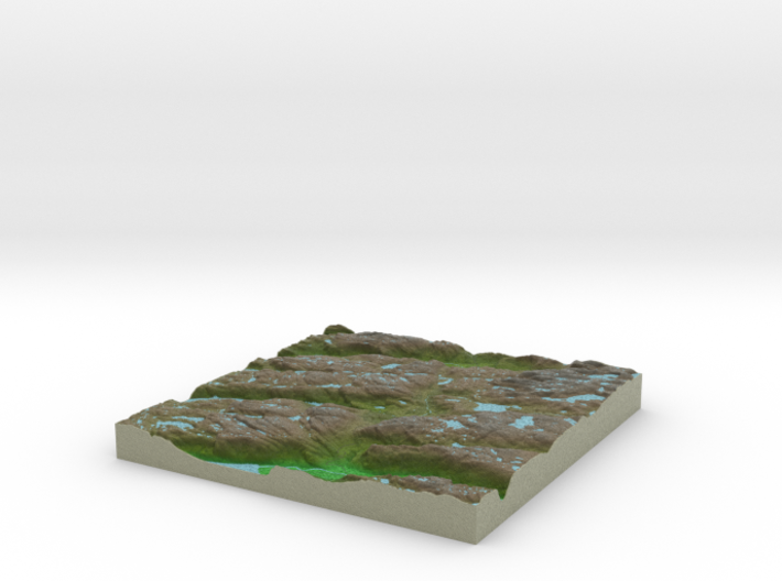 Terrafab generated model Mon Sep 30 2013 10:26:49 3d printed