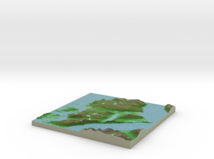 Terrafab generated model Wed Oct 02 2013 12:44:46 3d printed
