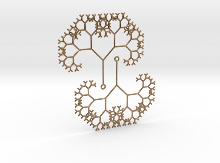 The Pythagoras Tree Earrings 3d printed