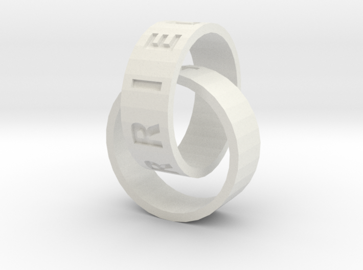 Connected Rings Just Married 3d printed