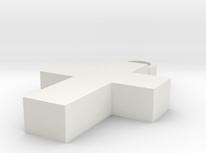 Cross Keychain 3d printed