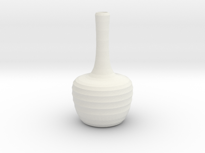 Twisted red cap water bottle 3d printed