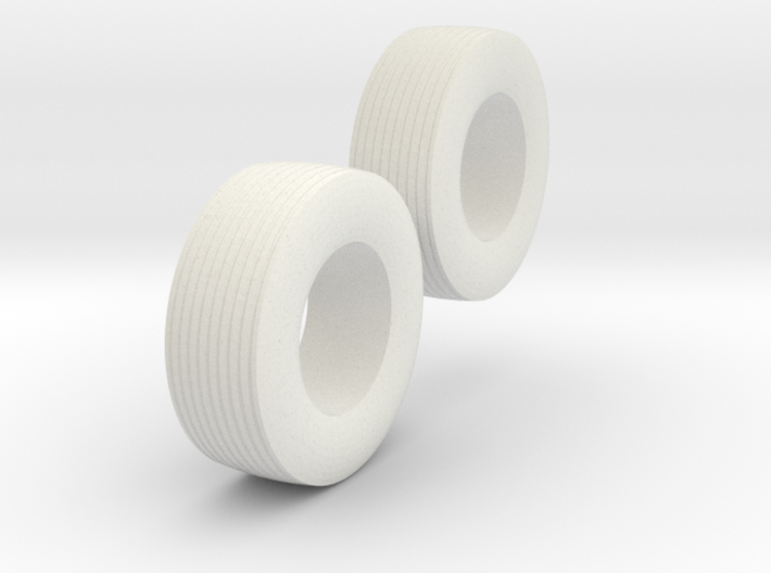 """1:64 scale 15-22.5 """"Cement"""" Wagon Tire Pair 3d printed"""