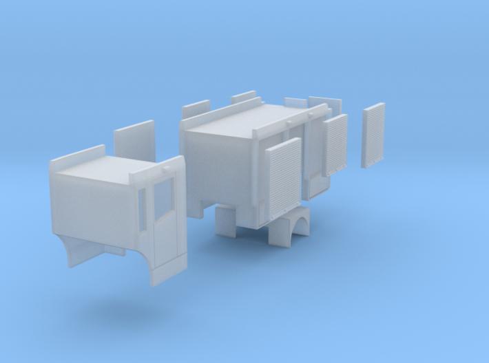 Econic HLF - Aufbau mit Rollos 3d printed