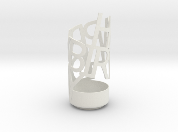 Happy Birthday pencil holder 3d printed