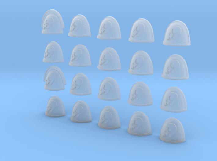 Side Skull - 20, 28mm Shoulder Pads 3d printed