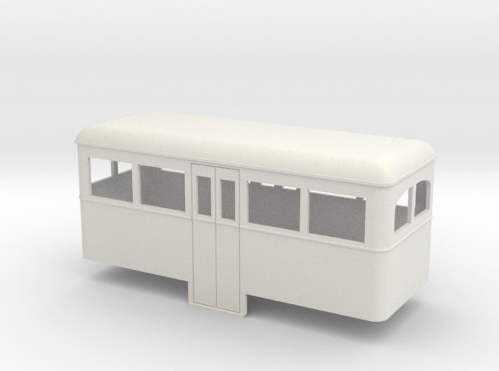 1:32/1:35 railbus Passenger trailer 3d printed