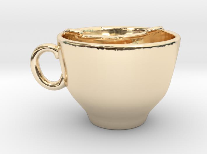 Moustache Cup 3d printed