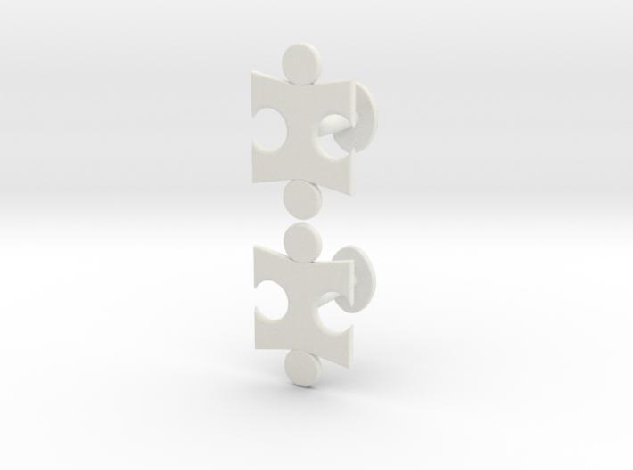 Jigsaw Cufflinks Set 3d printed