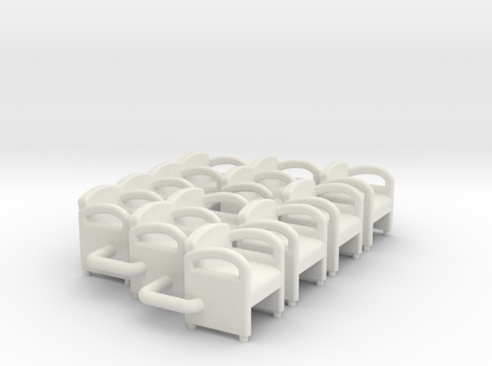 Waiting Room Chairs HO Scale 3d printed