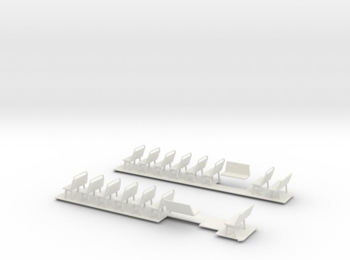 1:43 Bristol Bus Floor & Seats 3d printed