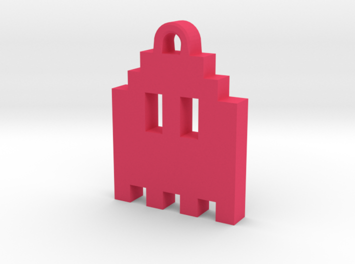 Pac Man Ghost 8-bit Earring 1 (looks up | moving) 3d printed