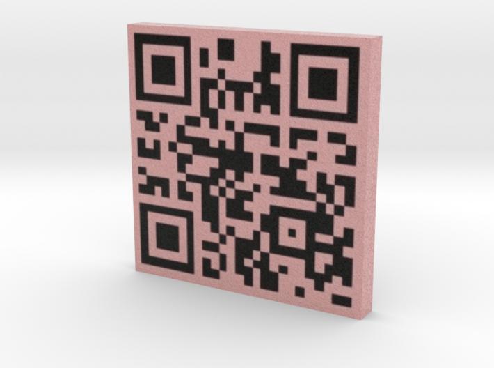 QRCode -- http://wizardblobproductions.com 3d printed
