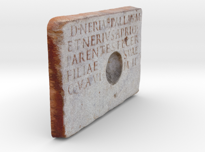 "Roman Libation Inscription (6"") 3d printed"
