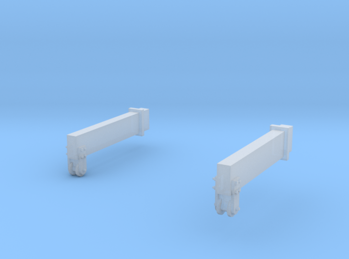 O-Scale Block & Tackle Beams 3d printed