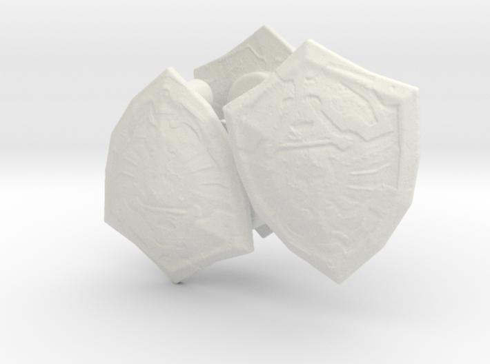 3 zelda shields for lego 3d printed