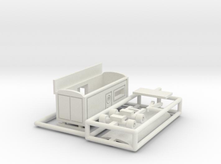 Kassenwagen 1 mit Erker - 1:220 3d printed