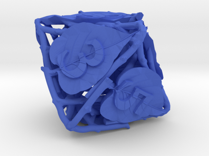 Botanical d8 Ornament 3d printed