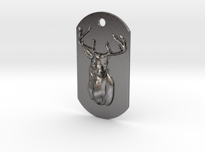 Dog Tag Deer Head 3d printed