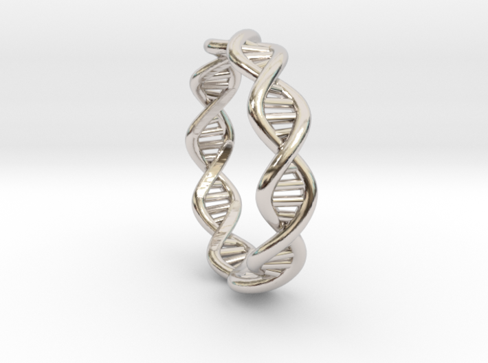 Female DNA Ring From The Male Female Matching Set 3d printed