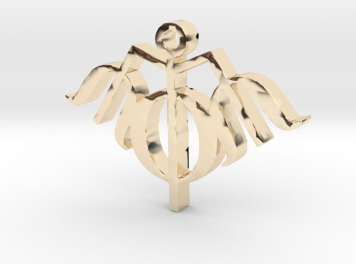 Trishool Necklace Pendant 3d printed