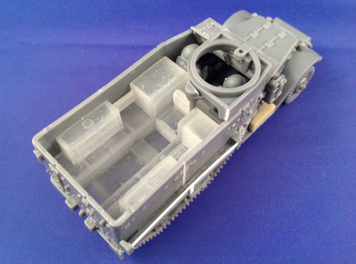7201 • M9A1 Half-track Body 3d printed Conversion used on Plastic Soldier Company M5 half-track kit