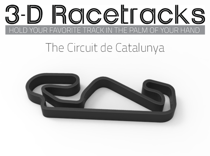 The Circuit de Catalunya 3d printed Track without Run Off