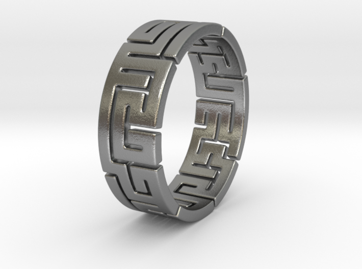 true maze ring size 7 3d printed