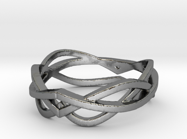 Curves 8 Ring Size 8 3d printed