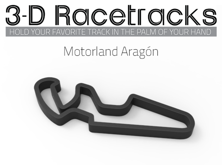Motorland Aragón 3d printed Track with no run off areas