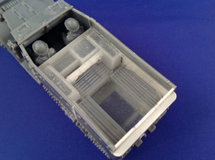 7202B • 3×British M14 Half-track Body 3d printed Conversion used on Plastic Soldier Company M5 half-track kit