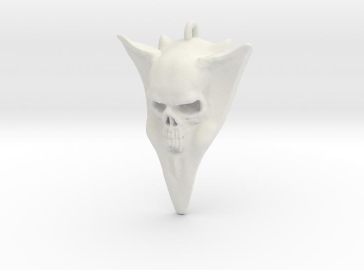 Skull Guitar pick stainless 3d printed