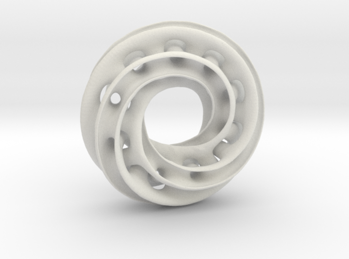 Twisty Torus with Spokes & Holes 3d printed