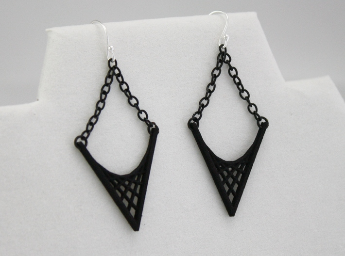 Parabolic Suspension Earrings 3d printed Earring Wires and Chain are Not Included in Purchase