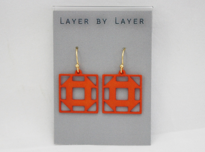 Churn Dash Earrings 3d printed Earring Wire and Earring Card Not Included in Purchase