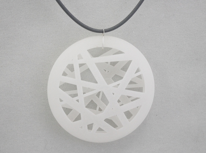Circular Abstract Line Pendant - Large 3d printed