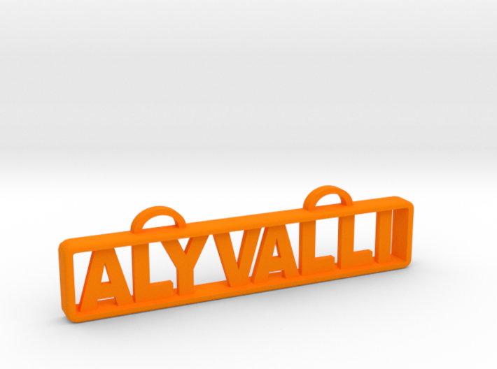 Aly Valli Name Tag 3d printed