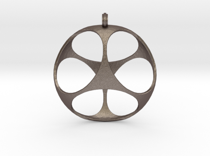 Cubic Shell Pendant W/ Hoop 3d printed