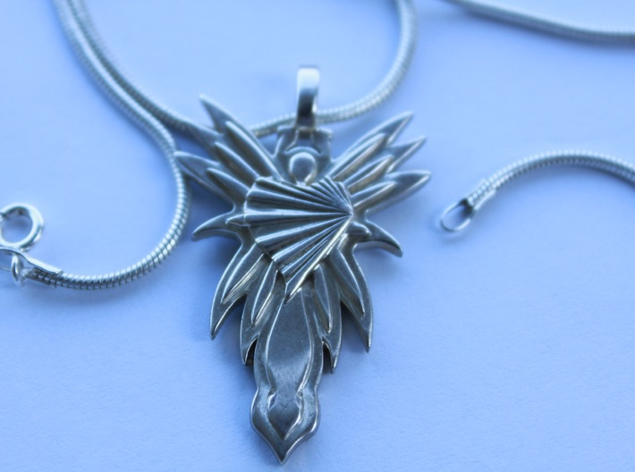 Angel 3d printed Great details with Premium Silver