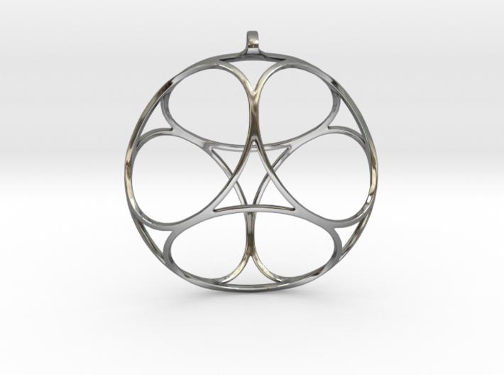 Ephemeral Cubic Shell Pendant 3d printed
